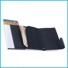 PU Leather Cardholder Cum Wallet (Screen print)