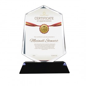 Heptagon Shape Sharp Looking Crystal Awards