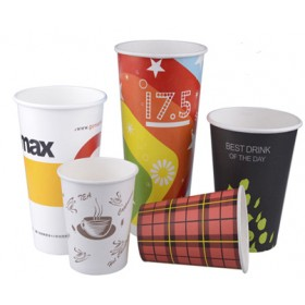 Take or Leave Personalized Paper Cups Without Lid 4oz to 16oz