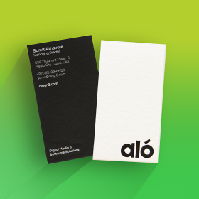 Custom Debossed Business Cards - Double Layer Business Cards