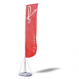 OUT DOOR FLAGS 5M (4+1M Cloth Flags with water base stand)