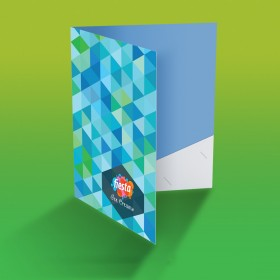 A4 paper fit thick Folders with Pocket (Laminated)
