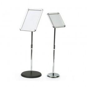 Self Standing T-SIGN Adjustable Pedestal Poster Stand Aluminum Snap Open Frame A4