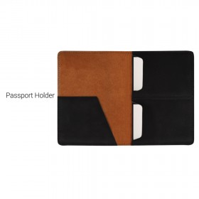 Premium Passport Holder & Leather Wrapped Ballpoint Metal Pen (Screen print)
