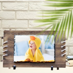 CUSTOMIZED WOODEN ROCK PHOTO FRAME (With good looking ropes)