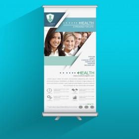 Rollup Display Banner Printing With Stand (Roll-Up 85x200cms, Indoor Roll up)