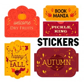 Take or Leave Commercial Paper Sticker with Glossy Lamination and Custom Shape (Kiss Cut) Dye Cutting