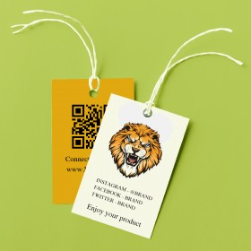 Personalized Tags for Products (Tag Card with cotton Thread)