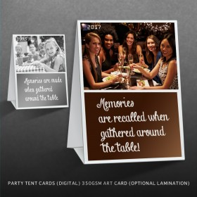 Tent card for Theme Party