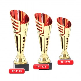 Plastic Trophy with Marble Base with Metal or Acrylic or Digital Sticker Branding (Awards)