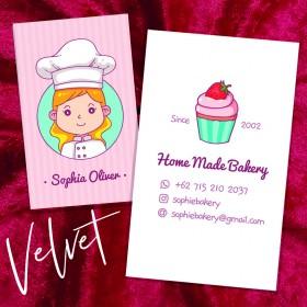Velvet Laminated Business Cards - 350gsm