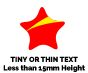 Example of Tiny and Thin Text